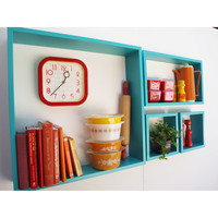 4-Pc. Handmade Rectangle Wall Shelves