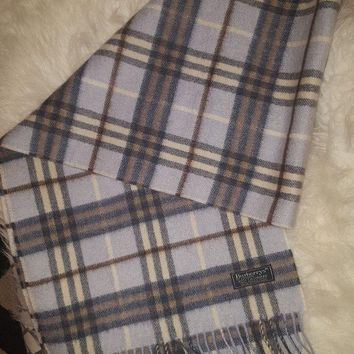 PEAPON Womens 100% Cashmere Scarf Genuine BURBERRY VGC!! Used Only 2 Times!!