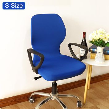 solid color Elastic fabric Computer Office Chair Cover printe Washable Removable ArmChair Covers Slipcover Stretch Rotating Lift