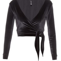 Dree velvet wrap top | Lisa Marie Fernandez | MATCHESFASHION.COM UK