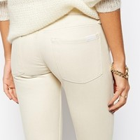 7 For All Mankind Leather Look Skinny Jean Trousers