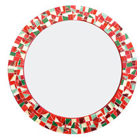 Red, Gold, Green Mosaic Wall Mirror