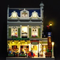 LED light up kit (only light) for lego 10243 and 15010 Creator Parisian Restaurant (Building bricks set not included)