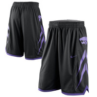 Nike Kansas State Wildcats Replica Basketball Shorts - Black