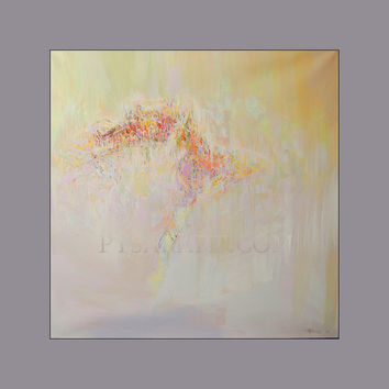 Abstract Ballet Art - Ballerina Painting Oil Canvas Art - Dancing Painting - Stretched Canvas by Yuri Pysar