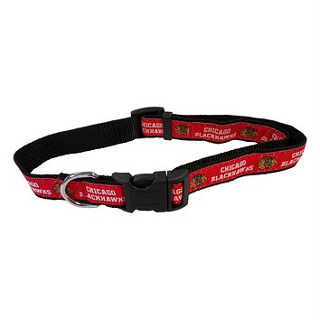 Chicago Blackhawks Pet Collar by Pets First
