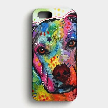 Pitbull Love Painting iPhone SE Case