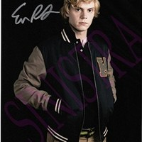 American Horror Story Signed 8x10 Photo Evan Peters w/COA Will Pass PSA/DNA