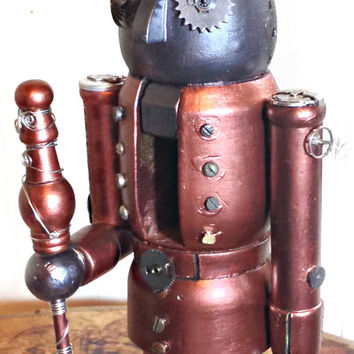 Large Steampunk Robot Nutcracker