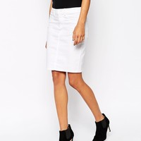 Vila Distressed Denim Skirt