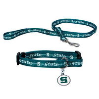 Michigan State Spartans NCAA Dog Collar & Leash Set (Large)