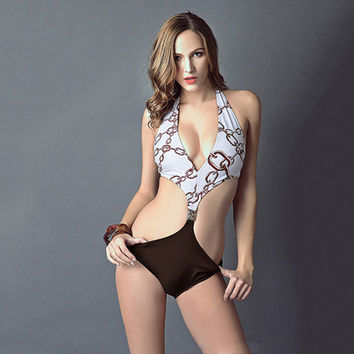 Comfortable High Quality Summer Ladies Stylish Sexy Chain Print Swimwear [6048210497]