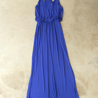 A Summer Staple Maxi in Royal [5193] - $36.00 : Vintage Inspired Clothing & Affordable Dresses, deloom | Modern. Vintage. Crafted.
