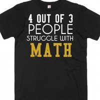 Struggle with math tee t shirt-Unisex Black T-Shirt