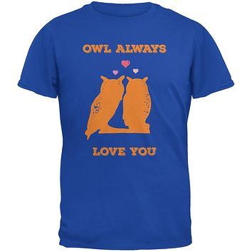 Valentine's Day - Paws - Owl Always Love You Royal Blue Youth T-Shirt