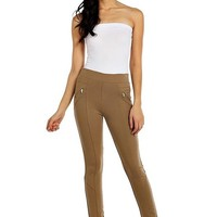Camel riding Pants with Zipper Pockets