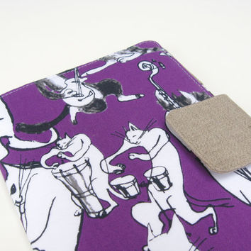 Kindle Cover Kindle Fire Cover Nook Simple Touch Cover iPad Mini Cover Kobo Cover Case Cool Cats Jazz Band Hepcats Beatniks Hipsters