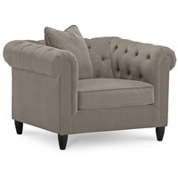 "Rayna Fabric Living Room Chair, 43""W x 38""D x 30""H"