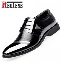 Men's Business Lace-Up Leather Shoes