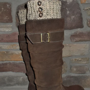 PATTERN for crochet reversible button boot cuff leg warmers boot toppers instant download