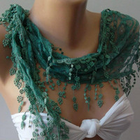 Emerald Green / Elegant Shawl/Scarf.