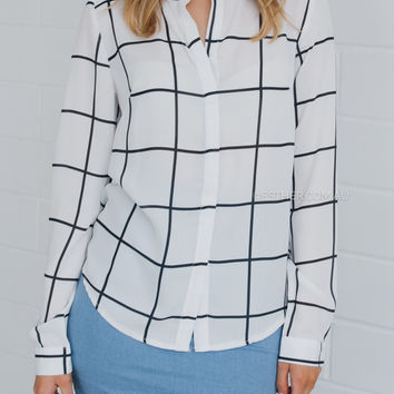 gladys blouse - stripe