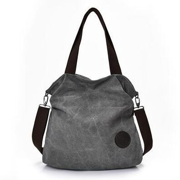 Canvas Bag Tote Women Handbags Canvas Shoulder Bags  New Fashion Casual Messenger bags High Capacity Lady Toes
