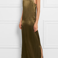 GANNI - Satin maxi dress