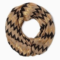 Metallic Chevron Infinity Scarf | Fashion Apparel | charming charlie