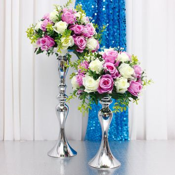 flower ball metal holder table decor ccessories wedding centerpieces Candle Holders Stand Flowers Vase Candlestick Candelabra