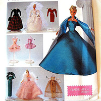 Barbie Doll Clothes Pattern Simplicity Barbie Gowns Dresses Wedding Gown Ballerina Dress