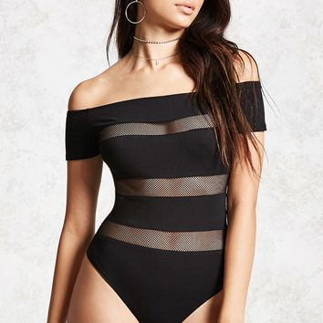 Shadow-Stripe Bodysuit