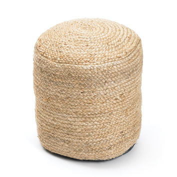 Nautical Hemp Pouf