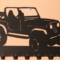 Jeep KEY RACK Hat Coat Hook Leash 4 x 4 Wheeler Orv Hanging Hook CJ