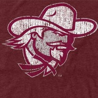 Eastern Kentucky Colonels Distressed Primary Tri-Blend T-Shirt - Maroon