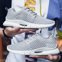 Men Shoes Sneakers Sport Lace Up Training Sneakers Breathable Mesh Athletic Summer Lightweight Runners Plus Big Size 48