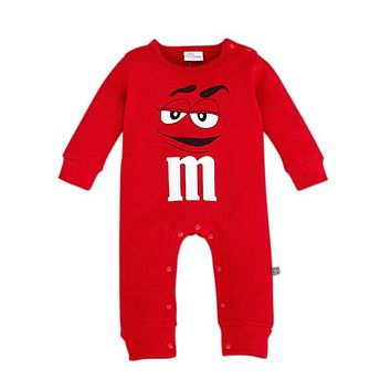 Cartoon Pattern Cotton Rompers Baby Clothes Girls Clothing Jumpsuits Long Sleeve O-Neck Autumn Fashion Infant Children Romper