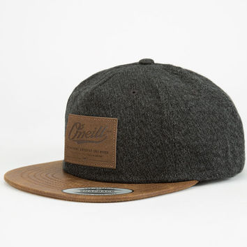 O'neill Workshop Mens Strapback Hat Charcoal