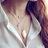 Jewelry Shiny New Arrival Stylish Gift Vintage Irregular Metal Necklace [7298065223]
