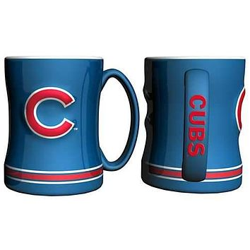 Chicago Cubs Sculpted Relief Mug 14 oz