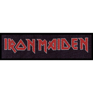 Iron Maiden Men's Logo Woven Jumbo Patch Black