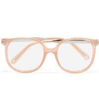 Chloé - Myrte square-frame acetate and gold-tone optical glasses
