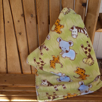 Jungle Babies Ultra Fluffy/flannel cuddly blanket