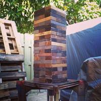 Giant Jenga Game with a Vintage Twist