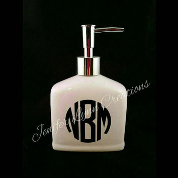 Personalized Soap Dispenser for kitchen or bathroom, personalized for you, any color, monogramed, sayings, or even an image