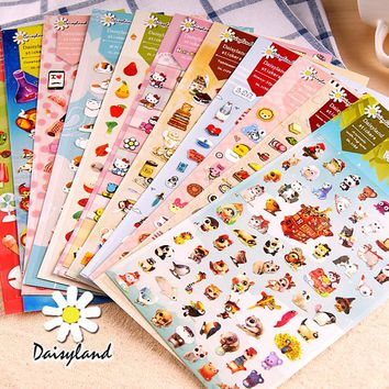 1 Sheet Kawaii Lovely Decorative Stickers Dairy Album Decor Phone Bottle DIY Stick Label Kids Birthday Gift Student Stationery