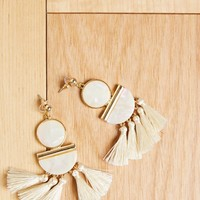 Artist Geometric Tassel Earrings