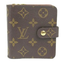 LOUIS VUITTON Compact Zip Bifold Wallet Monogram M61667