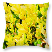 Citrine yellow decorative pillow, scatter cushion, home decor, pillow cover, square cushions, cushion cover, sofa pillow, bedding