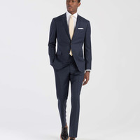 The Mayfair Suit in Dark Blue Plaid